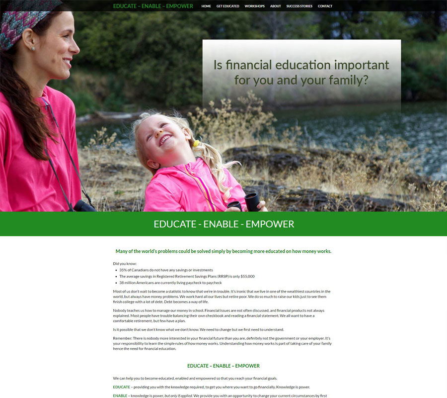 Educate Enable Empower Website Image
